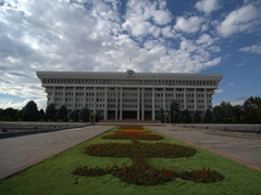 The White House (Presidential Office Building) in Bishkek