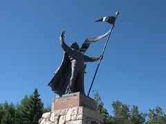 Monument in Karakol's town square