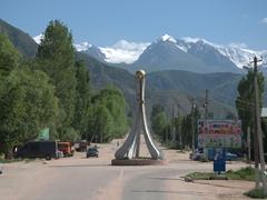Roundabout of Bokonbaevo