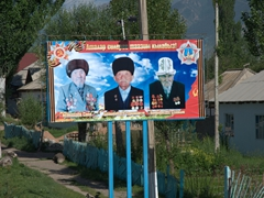 Kyrgyz war heroes proudly on display; Bokonbaevo