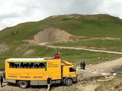 """Habibi making her way up to Lake Son-Kul (""""the last lake"""")"""