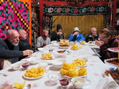 Breakfast yurt at Lake Son-Kul