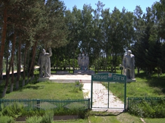 One of hundreds of Soviet monuments dotting the Kyrgyz countryside