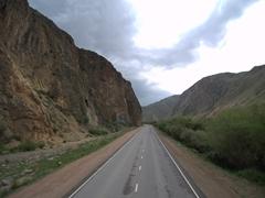 Road leading to Lake Son-Kul