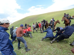 Horse game #1 has nothing to do with horses! Its an old fashioned game of tug of war; Lake Son-Kul