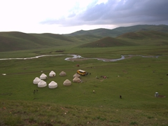 View of our scenic yurtcamp