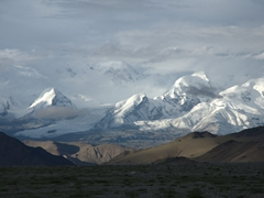 Gorgeous mountain views from our Karakoram Highway bushcamp