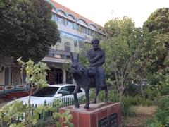 Donkey statue outside Seman Hotel; Kashgar