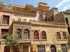 Funky architecture of old Kashgar