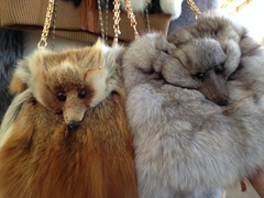 Fox pelt purses