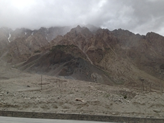 Fickle weather on the Karakoram Highway
