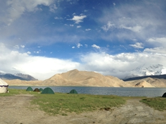 Panoramic view of Lake Karakol