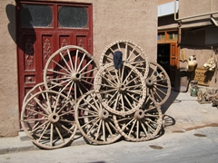 Wagon wheels; Kashgar