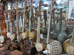 Musical instruments for sale in Kashgar old town