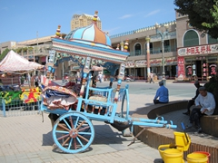Colorful cart; Kashgar old town