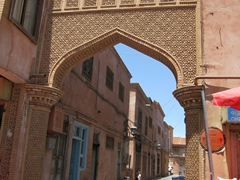 Ornate portal; Kashgar old town