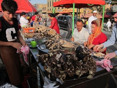 Goat head soup; Kashgar night market