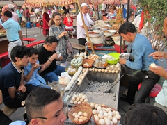 Egg treats at the Kashgar night market
