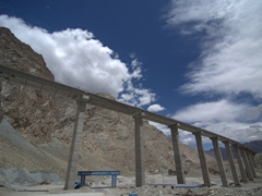 Massive road construction; Karakoram Highway