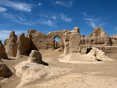 Remains of the ancient city of Jiaohe