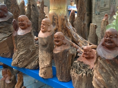 Carved Buddhas for sale; Karez