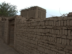 Mud built dwelling typical of Turpan