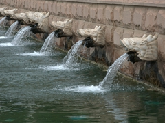 Water fountains in Turpan's central park