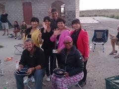 Friendly locals invade our bush camp; Xiakou