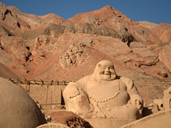 Gigantic Buddha; Flaming Mountains