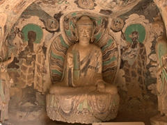 Remarkably well preserved cave; Bingling Temple