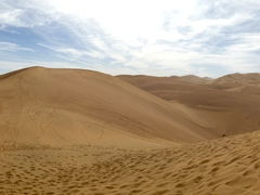 Singing sand dunes of Dunhuang