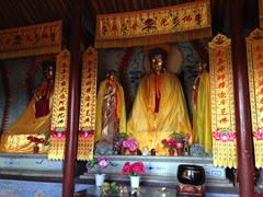 Interior of Jiayuguan's Buddhist temple