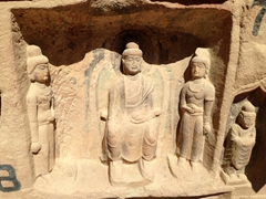 Relief images; Bingling Thousand Buddha Caves