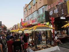 Dunhuang's bustling night market