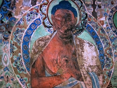 Painted detail; Mogao Caves
