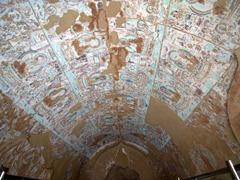 Ruined frescoes of Bezeklik Thousand Buddha Caves