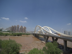 Crossing the funky bridge of Chongqing