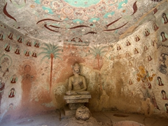 One of 183 caves of the Bingling Thousand Buddha Caves complex