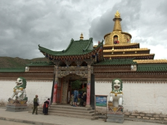 Entrance to the Golden Stupa; Labrang Monastery