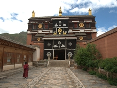 One of numerous prayer halls at Labrang Monastery