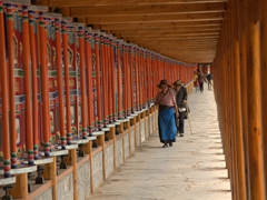 It takes about 90 minutes to walk around the Labrang Monastery while spinning prayer wheels