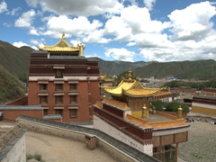 Rear view of Labrang Monastery