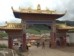 Entrance to Langmu Monastery, a less touristy alternative to Labrang