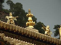 Roof detail; Langmu Monastery