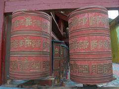 Prayer wheels; Chuanzhusi Temple