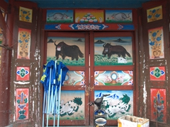 Colorful doorway; Chuanzhusi