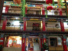 Courtyard of Labrang Bao Ma Hotel in Xiahe