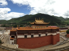 Panoramic view of Labrang Monastery; Xiahe
