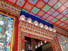 Colorful ceiling; Langmu Monastery