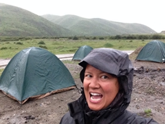 Final bush camp...too bad it is raining like crazy!